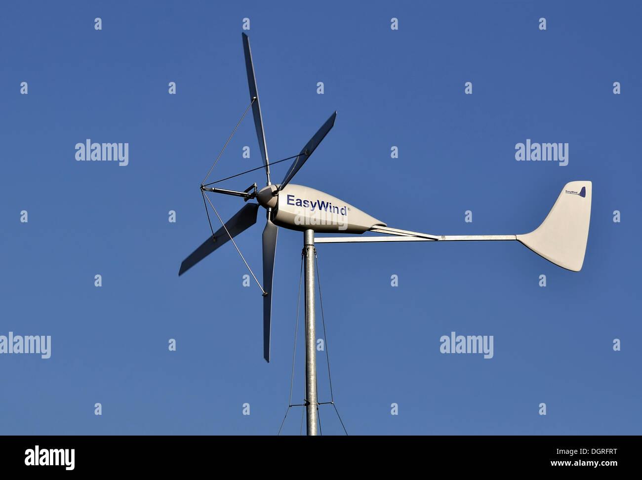 Kleines Windrad, Wind Generator Stockbild