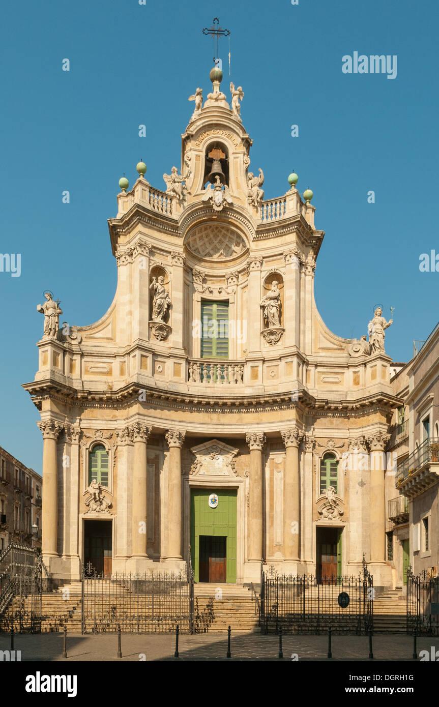 Basilika della Collegiata, Catania, Sizilien, Italien Stockbild