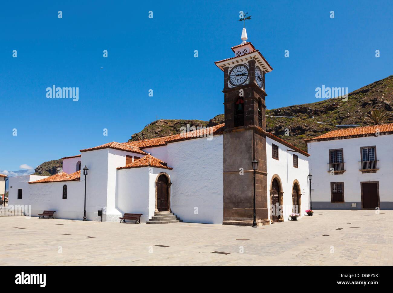 Kirche von San Juan Bautistain, San Juan De La Rambla, San Juan De La Rambla, Teneriffa, Kanarische Inseln, Spanien Stockbild