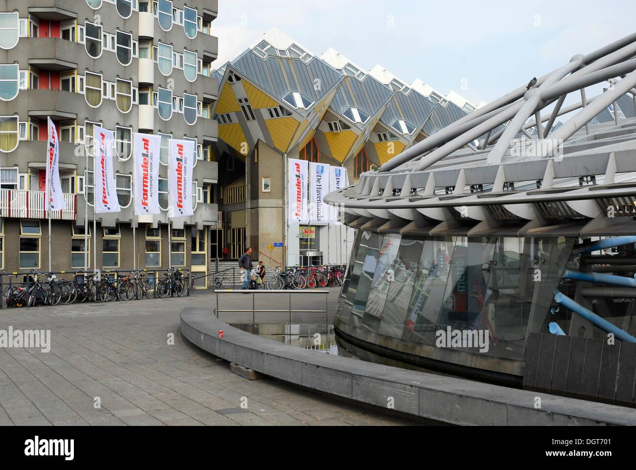 Moderne Architektur, Blaaktoren Turm und Cube Häuser, Kubuswoningen ...