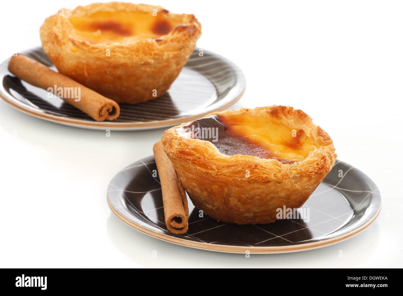 Typische Portugiesische Pudding Kuchen Pastel De Nata Oder