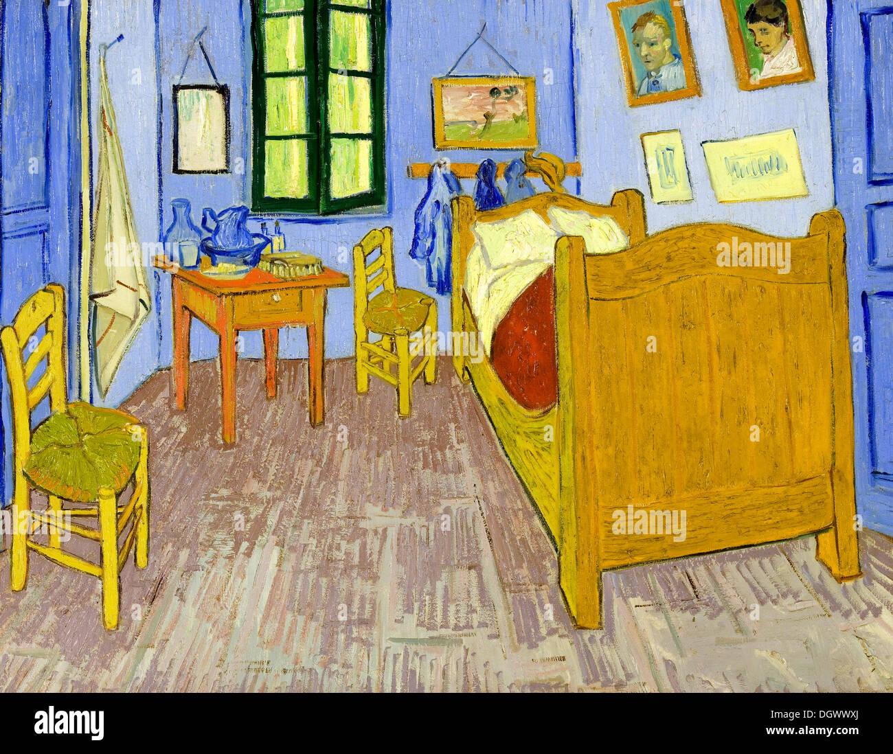Schlafzimmer in Arles von Vincent Van Gogh 1889 Stockfoto.