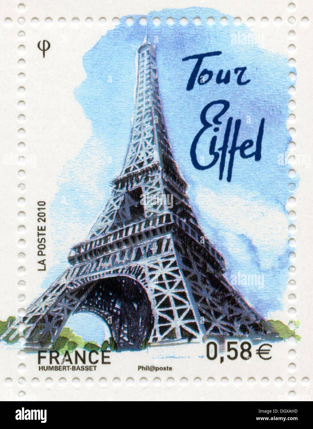 Paris La Tour Eiffel Stamp