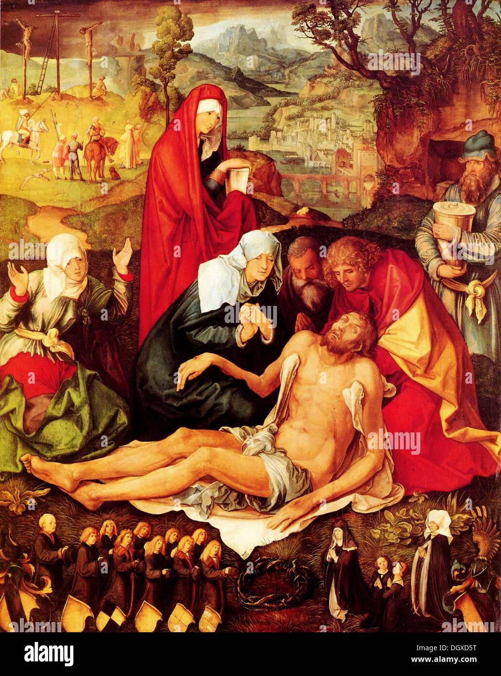 Klagelied für Christus - von Albrecht Dürer, 1498 Stockbild