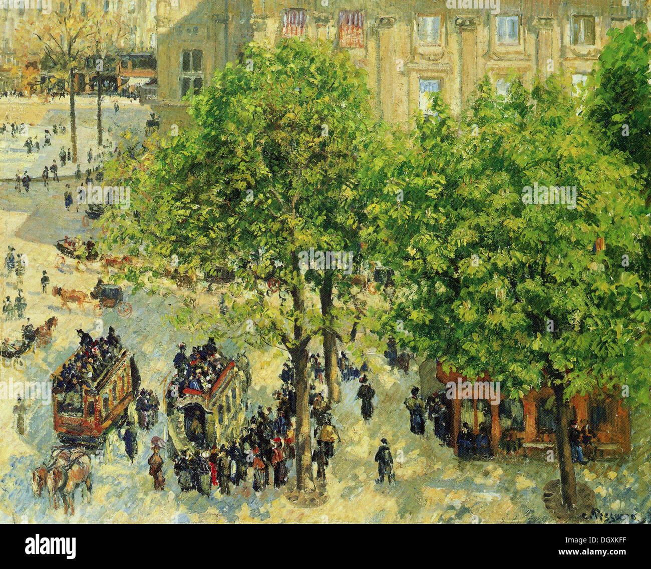 Place du Theatre Français - von Camille Pissarro, 1898 Stockbild
