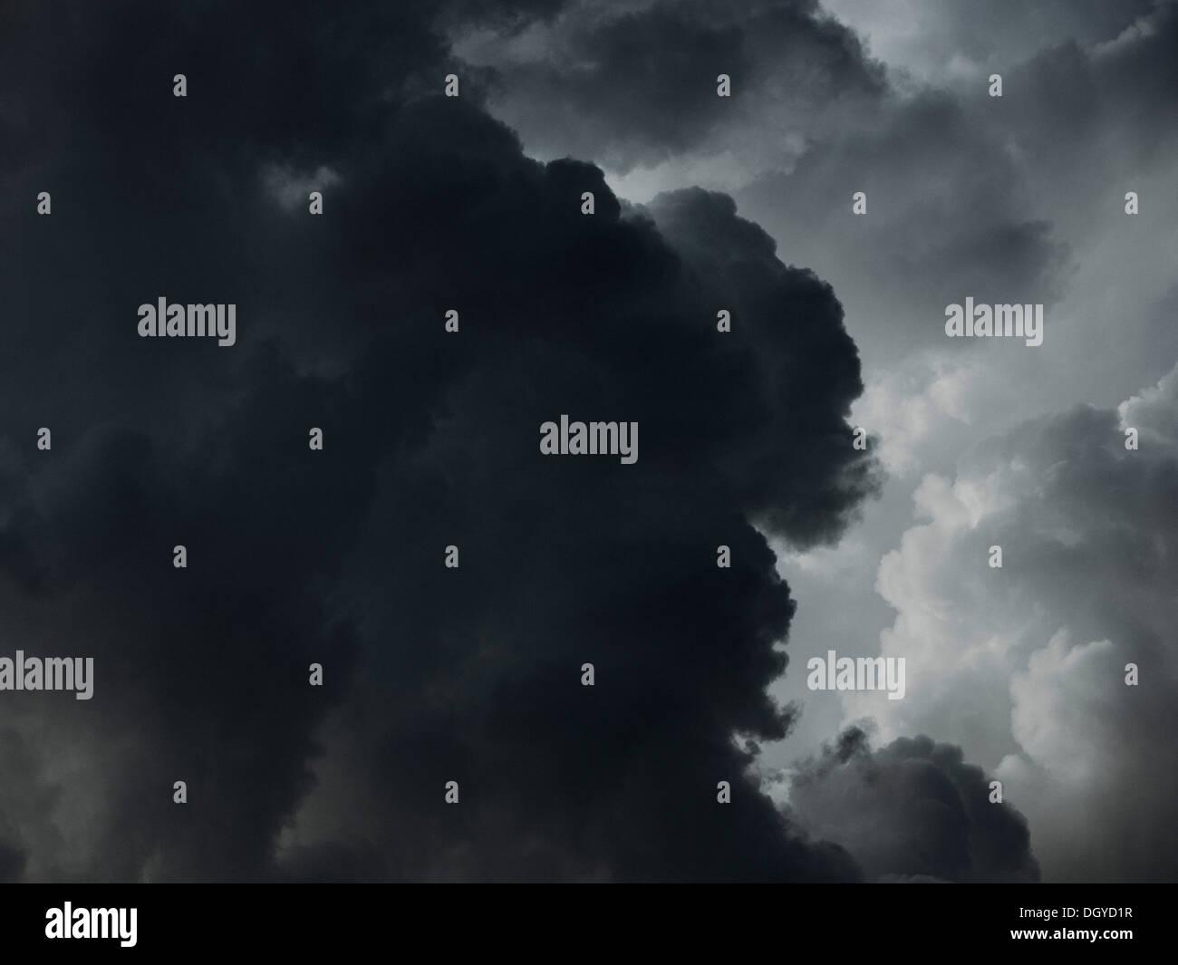 Eine dramatische Wolkengebilde Stockbild