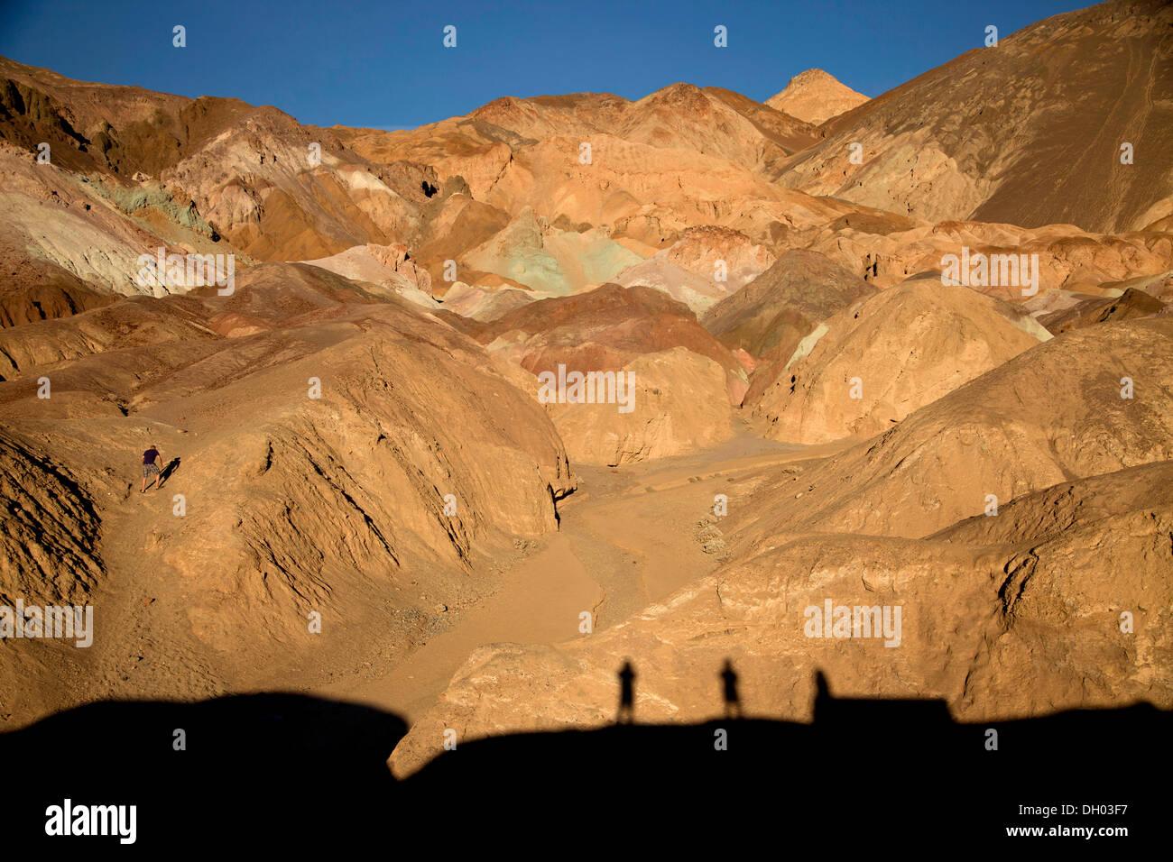 Getönt Felsen des Künstlers und Palette des Künstlers, Death Valley, Death Valley, Death-Valley-Nationalpark, Kalifornien Stockfoto