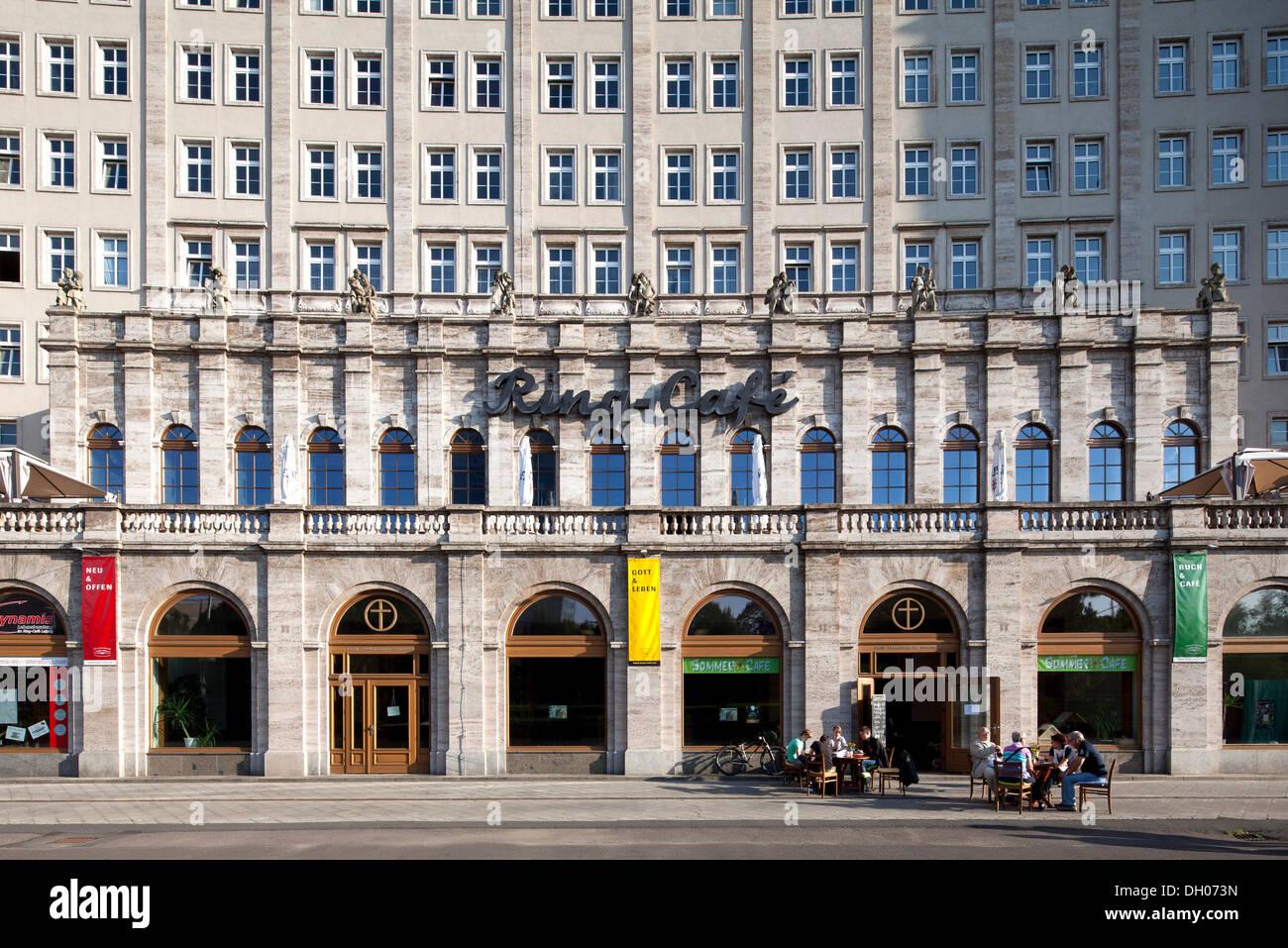 Ringbebauung Gebäude, sozialistischen Klassizismus, Leipzig, PublicGround Stockbild