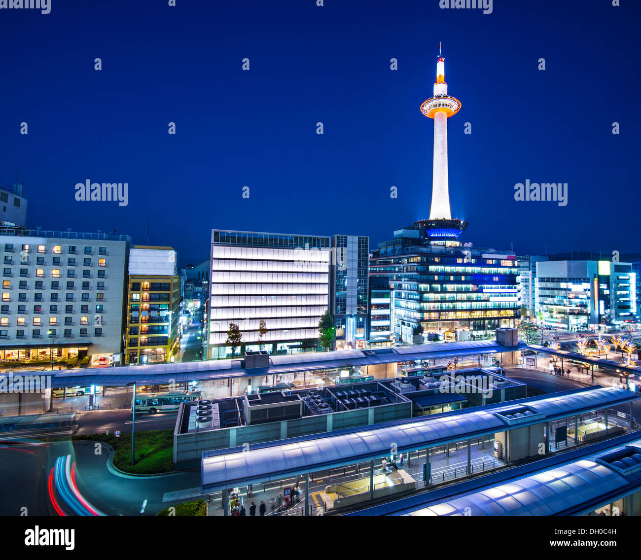 Kyoto, Japan Skyline bei Kyoto Tower. Stockbild