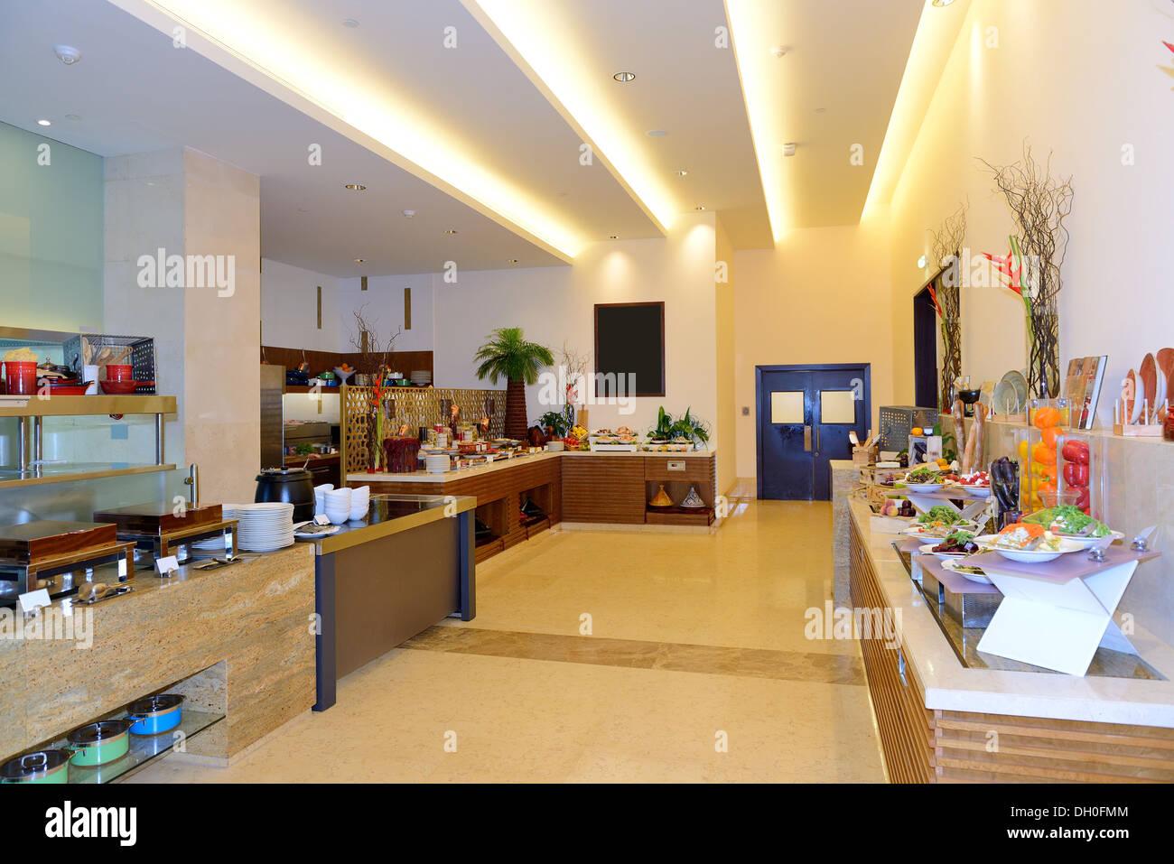 Das Restaurant-Interieur Luxus-Hotels, Dubai, Vereinigte Arabische ...
