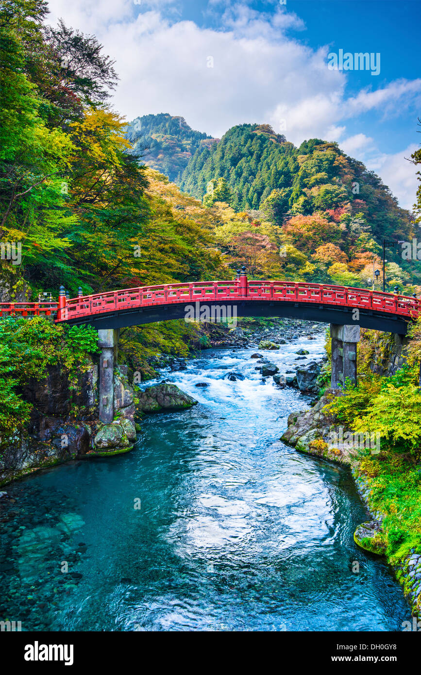 Heilige Brücke von Nikko, Japan. Stockbild