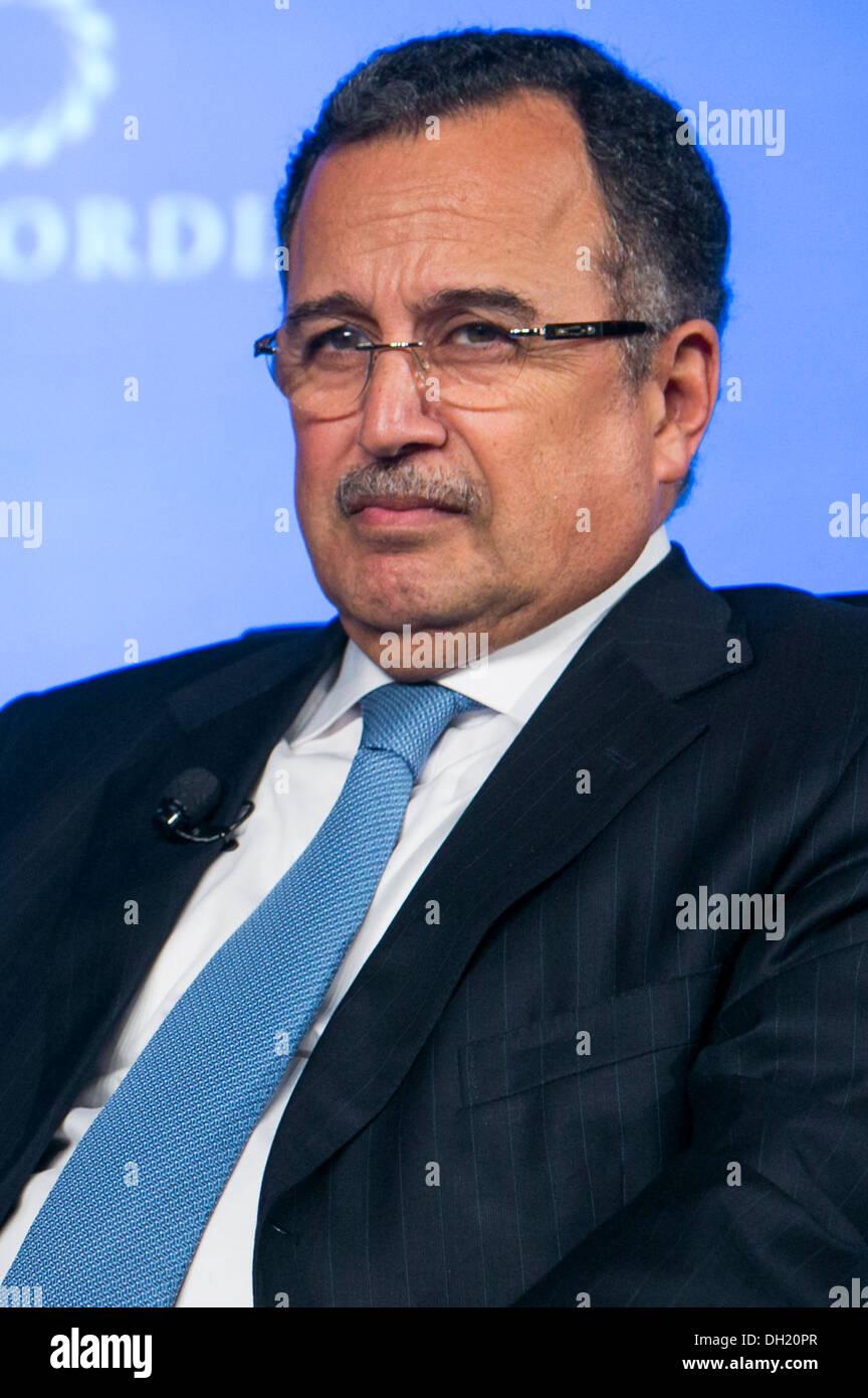 Ägyptische Außenminister Nabil Fahmy. Stockbild