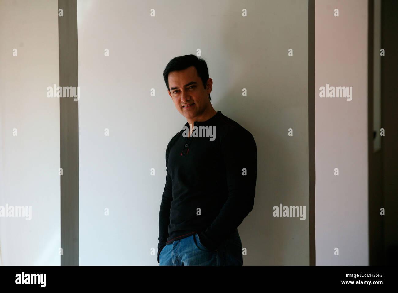 Indische Bollywood Hindi Film Schauspieler Aamir Khan Indien Asien Stockbild