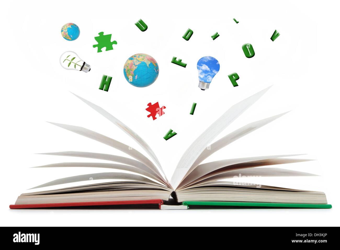 Buch der Ideen Stockbild