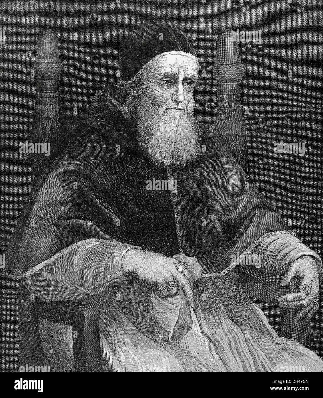 """Julius II. (1443 ? 1513), den Spitznamen """"Der gefürchteten Papst"""" und """"The Warrior Papst"""", Giuliano della Rovere geboren. Stockbild"""