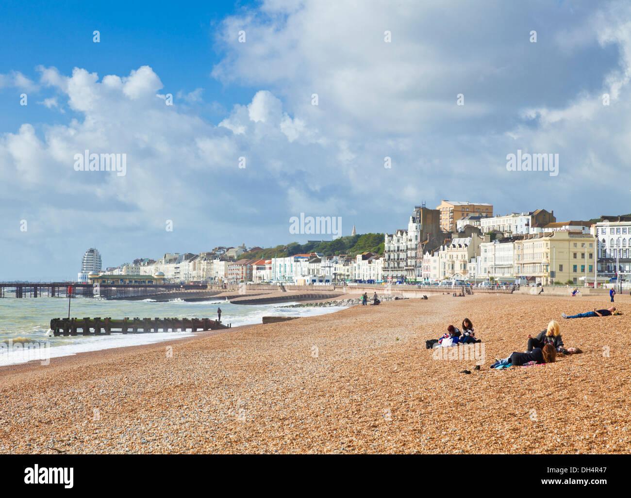 Hastings Strand Hastings East Sussex England GB UK EU Europa Stockbild