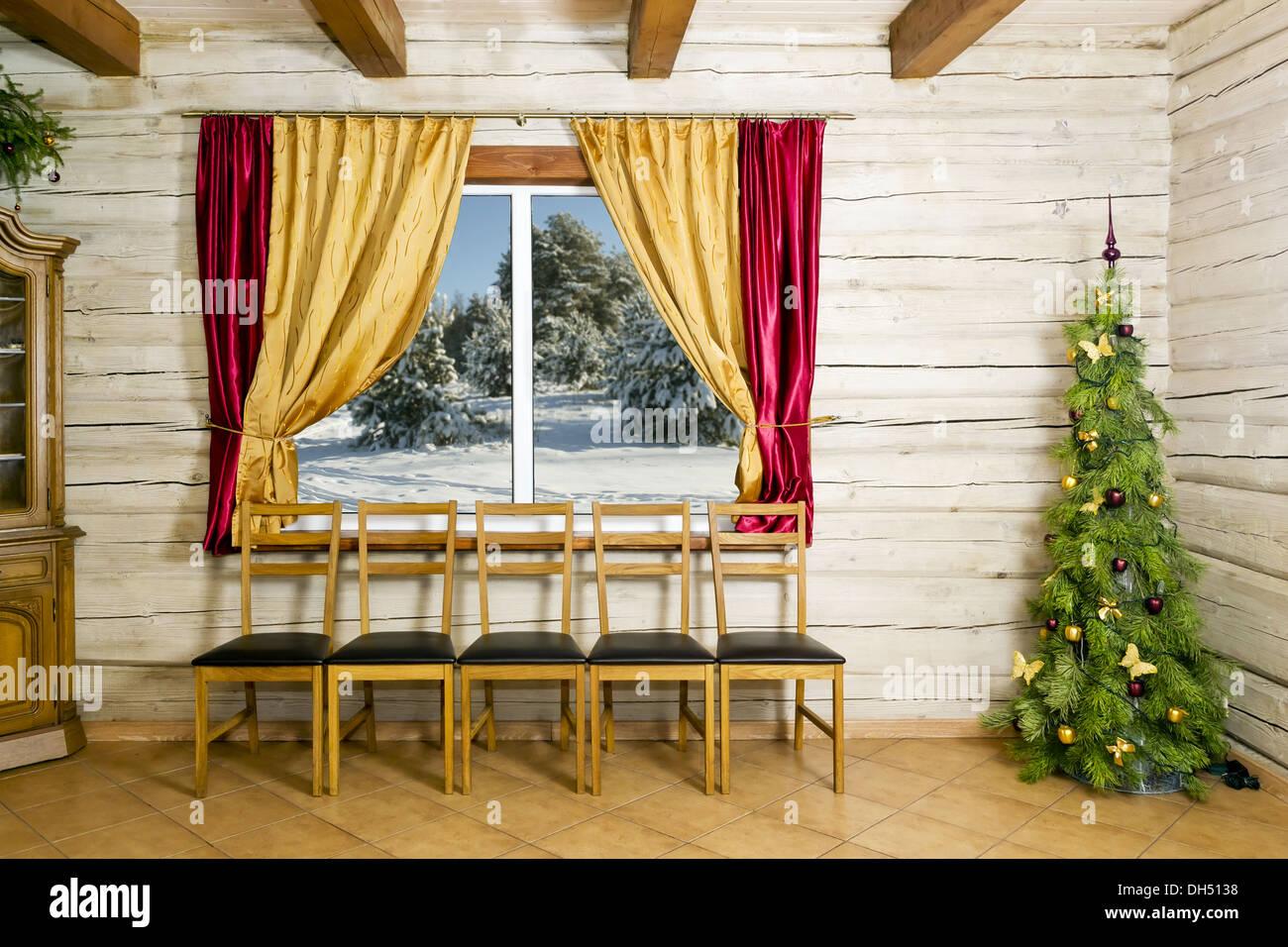 Weihnachts-Zimmer im Landhaus Stockfoto, Bild: 62190892 - Alamy