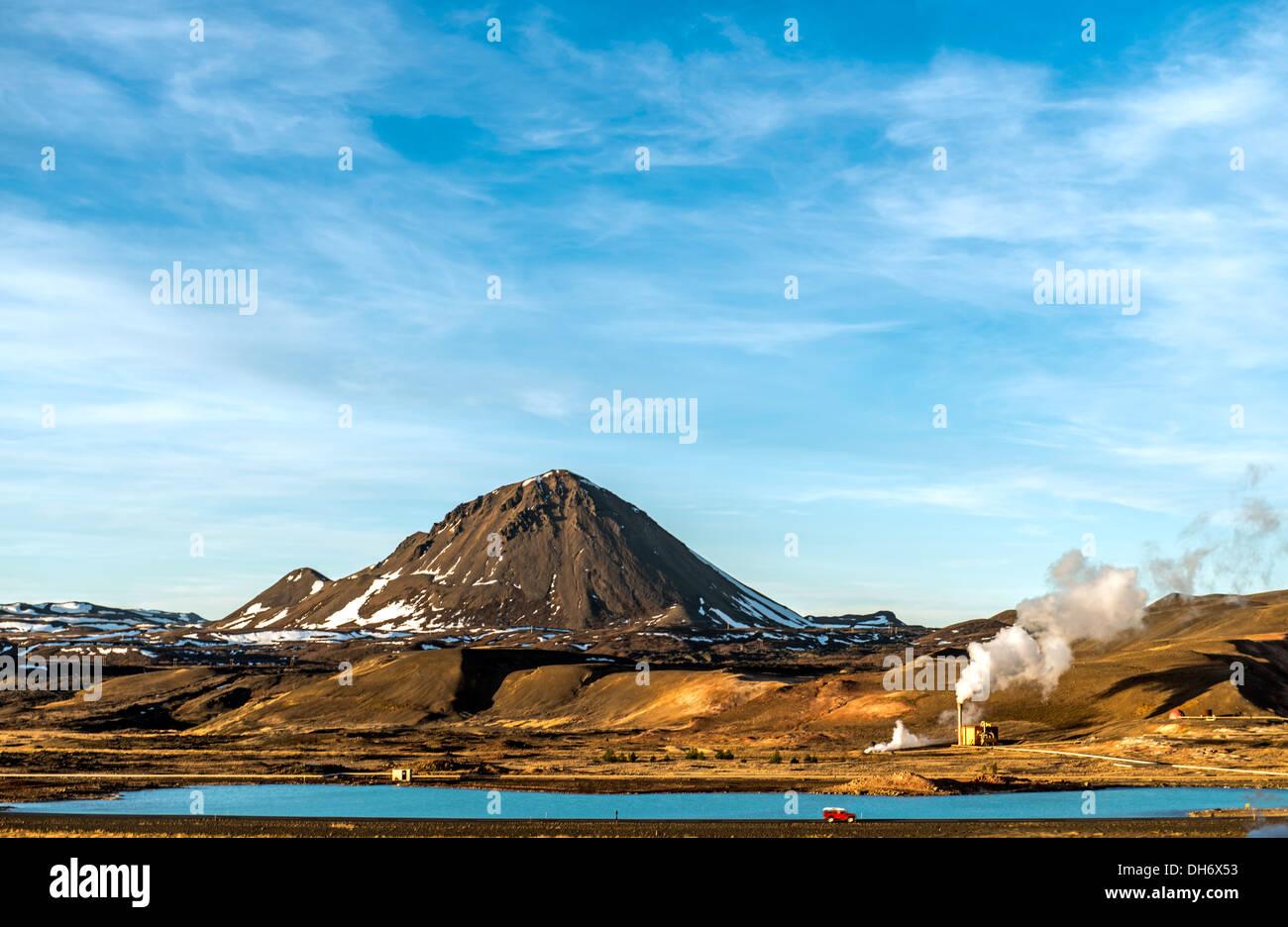 Mudpot oder Schlamm-Pool Nord-Island-Europa Stockbild
