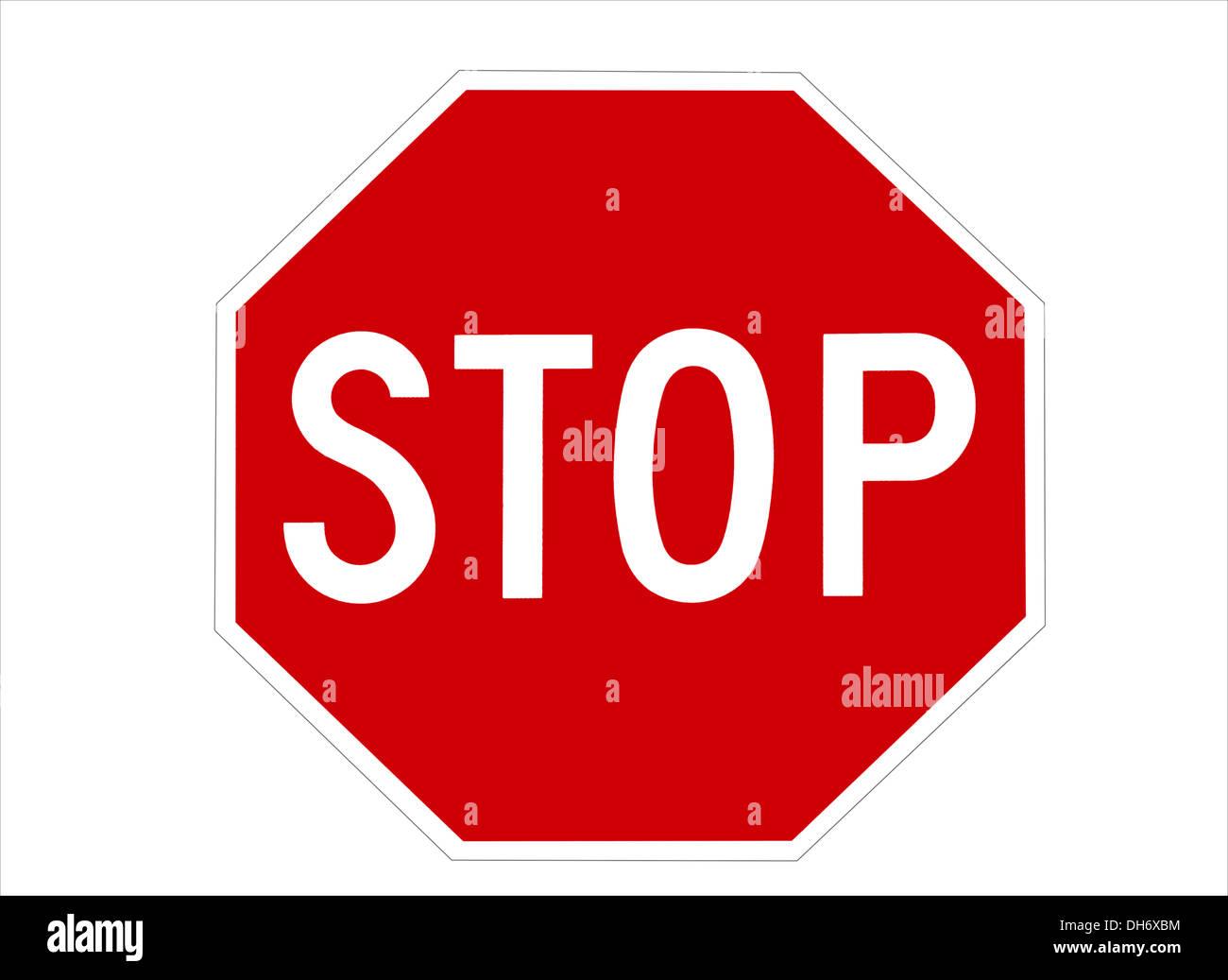 Stop-Schild Stockbild