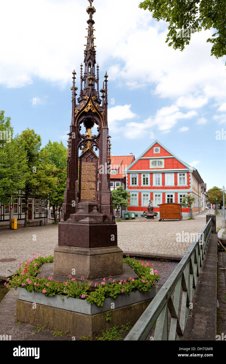 Marktplatz, Alfeld, Leine, Niedersachsen, Deutschland, Europa Stockbild
