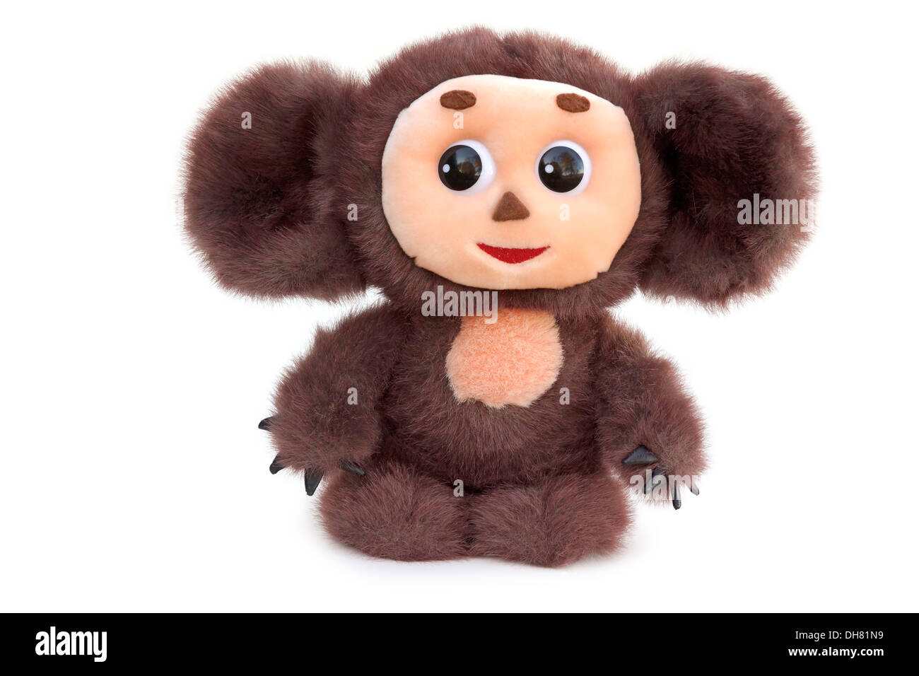 Cheburashka, Stofftier, russische Cartoon Charakter Stockbild