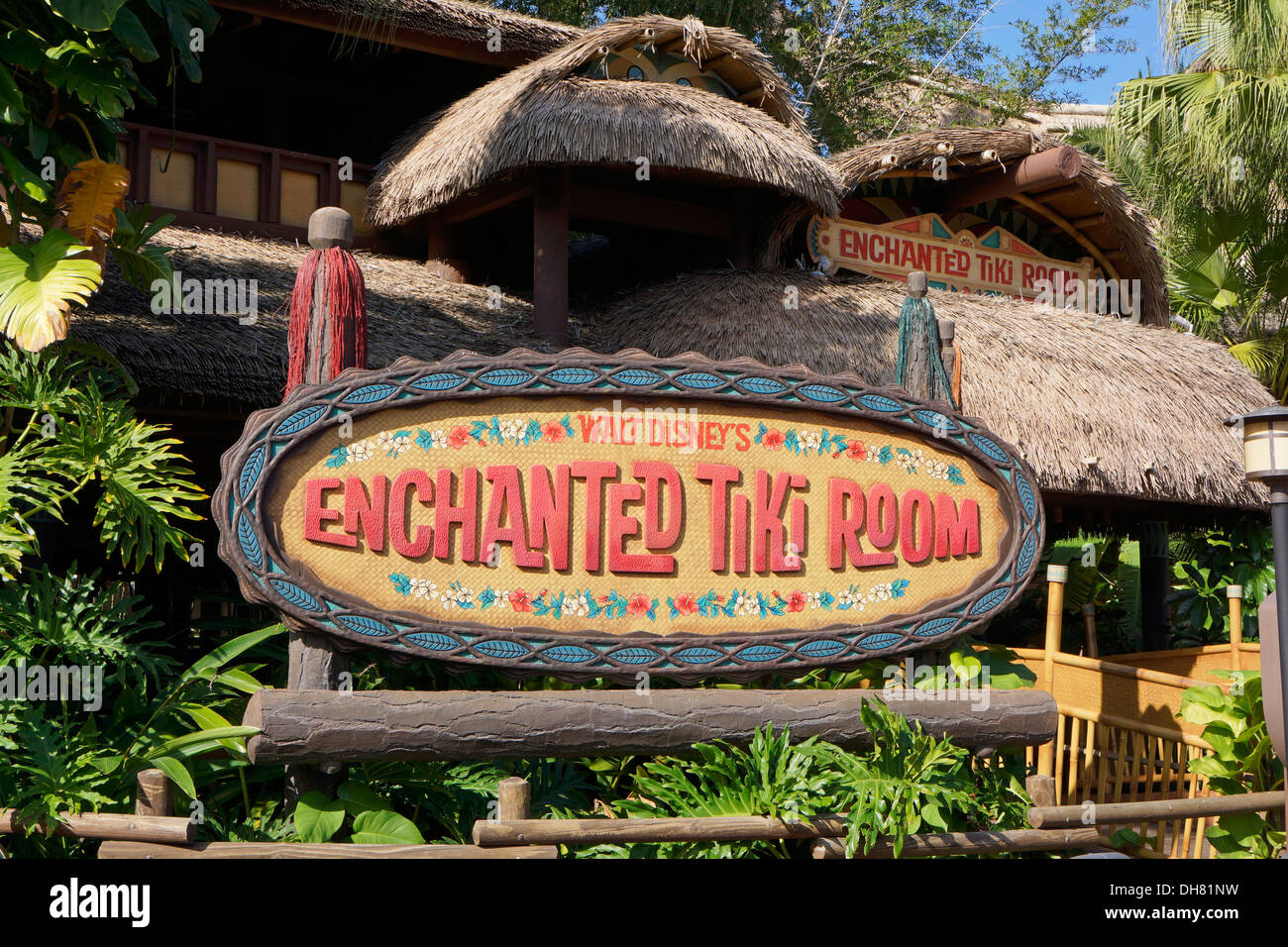 Verzauberte Tiki Room im Disney World Resort in Orlando Florida Stockbild
