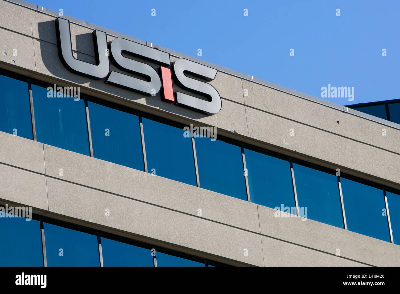 Der Hauptsitz des USIS prüft eine private Firma, die Security Clearance Hintergrund bietet für die US-Regierung. Stockbild
