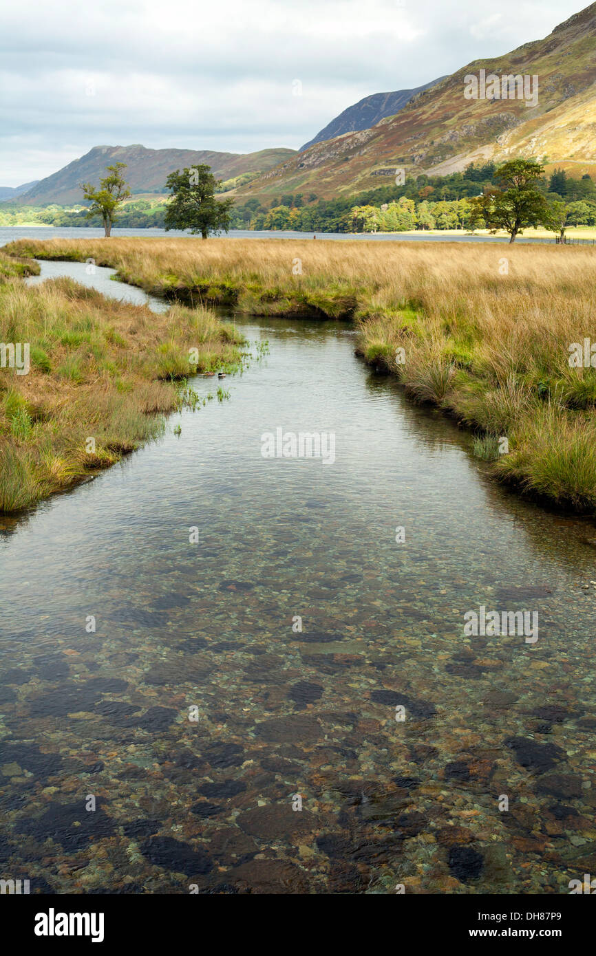 Buttermere Lake, Lake District, Großbritannien Stockbild