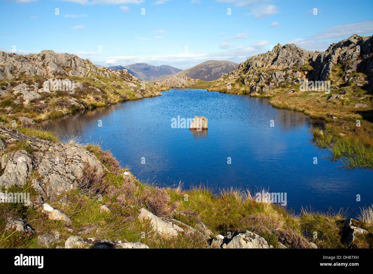 Auf der Oberseite Heuhaufen, Lake District, Großbritannien Stockbild