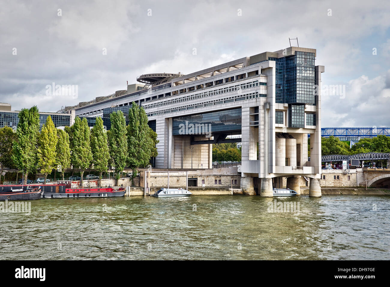 Der Sitz des Ministers für Wirtschaft, Finanzen und Industrie in Bercy in Paris - Frankreich Stockbild