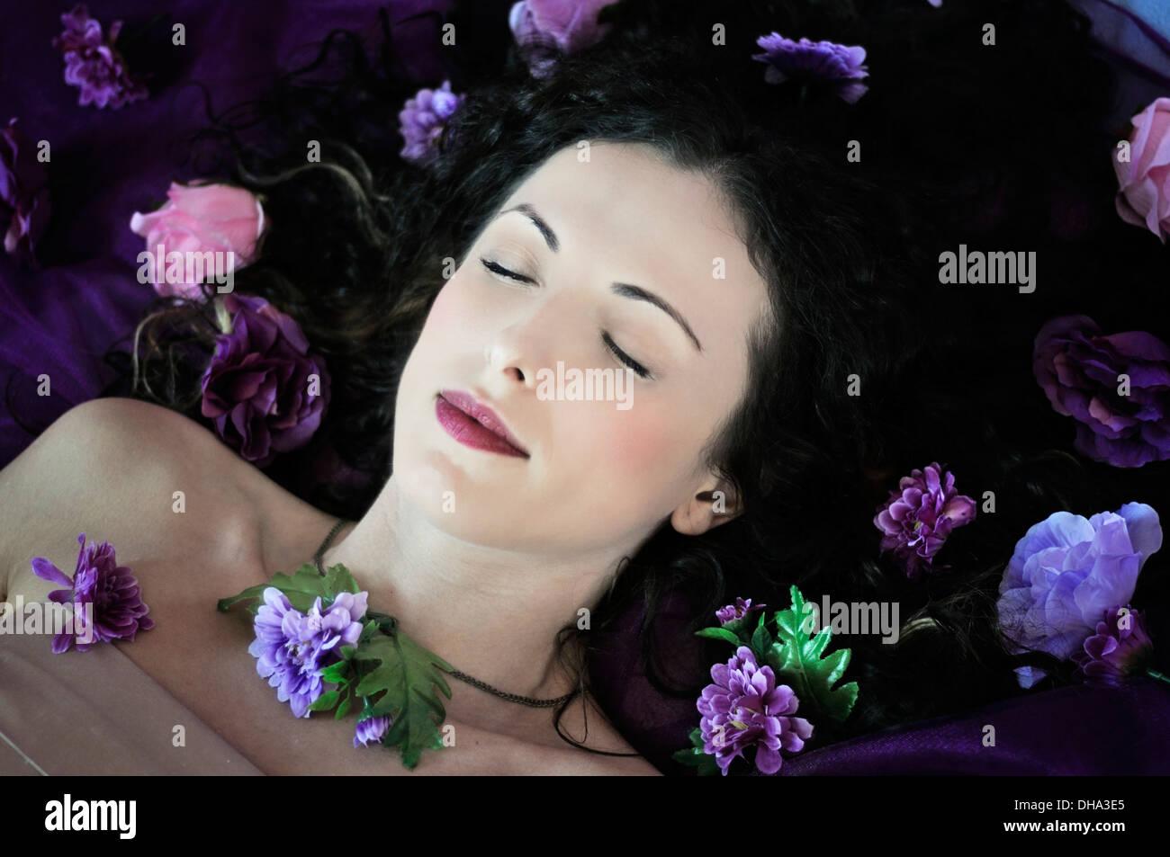 Schlafende Schönheit Stockbild