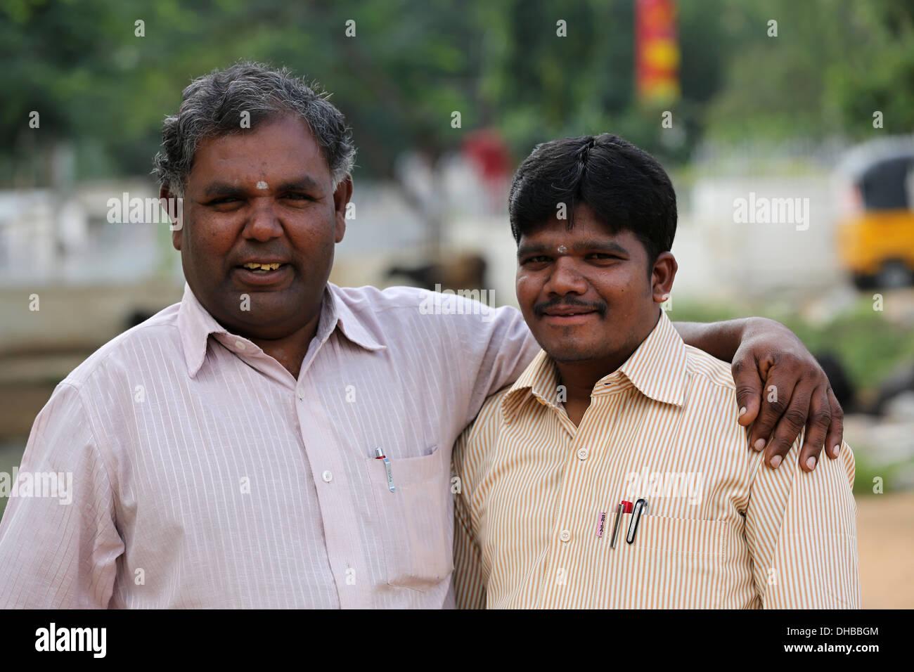 Indische Lehrer Andhra Pradesh in Indien Stockbild