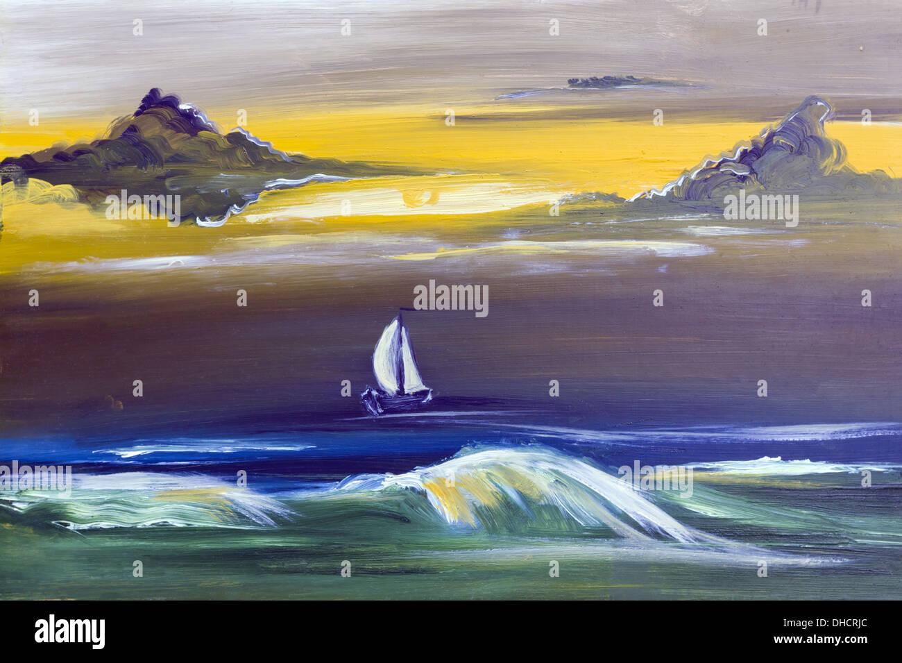 Segelyacht im sturm  Segelyacht im Sturm Stockfoto, Bild: 62362228 - Alamy