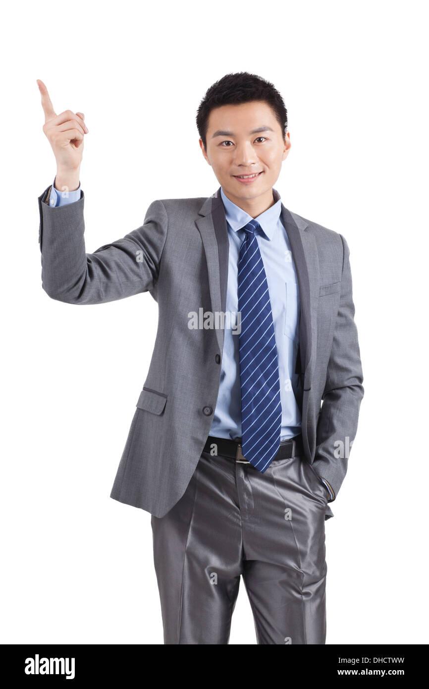 Porträt der jungen Unternehmer Führungskräfte Erweiterung Hände zu schütteln, Close-up Stockfoto