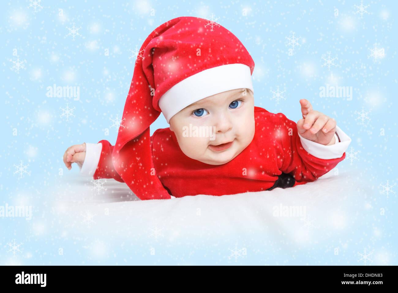 Baby Weihnachtsmann Stockbild