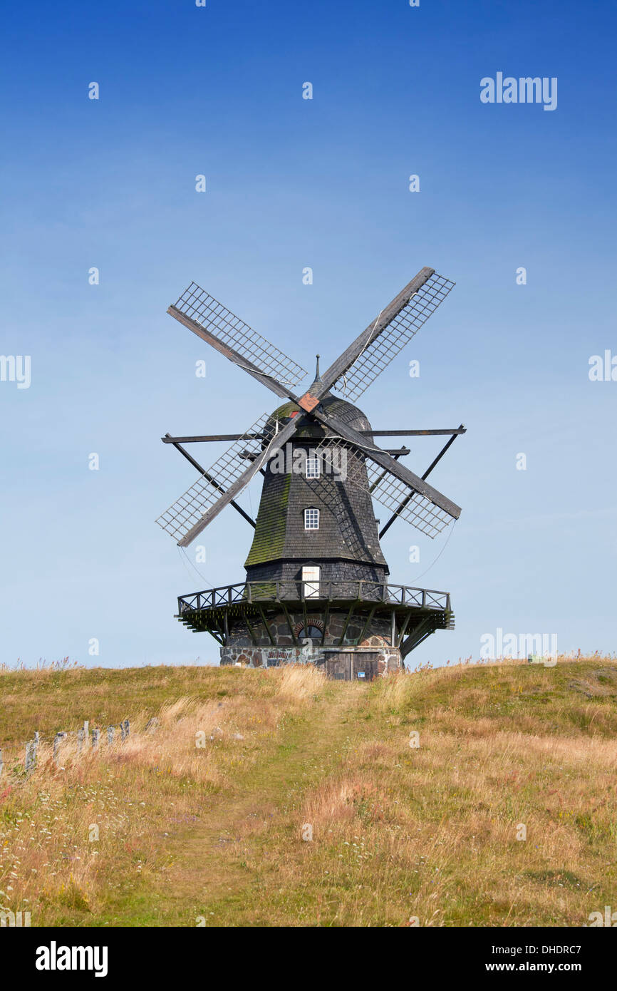 Die Bräcke Windmühle am Skåne / Scania, Schweden, Scandinavia Stockbild