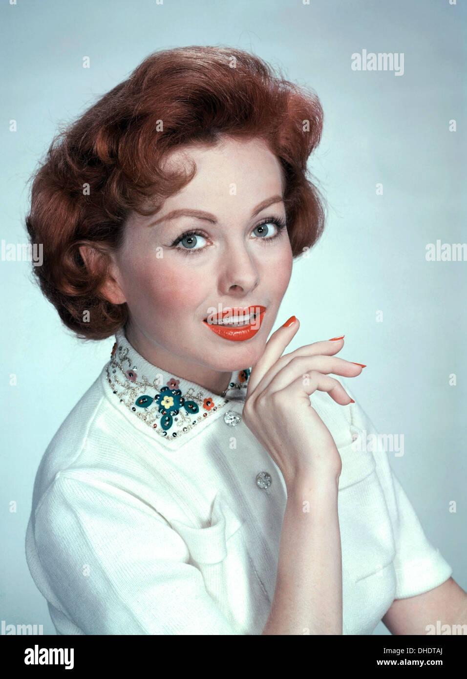 JEANNE CRAIN (1925-2003) U.S. Schauspielerin ca. 1955 Stockbild