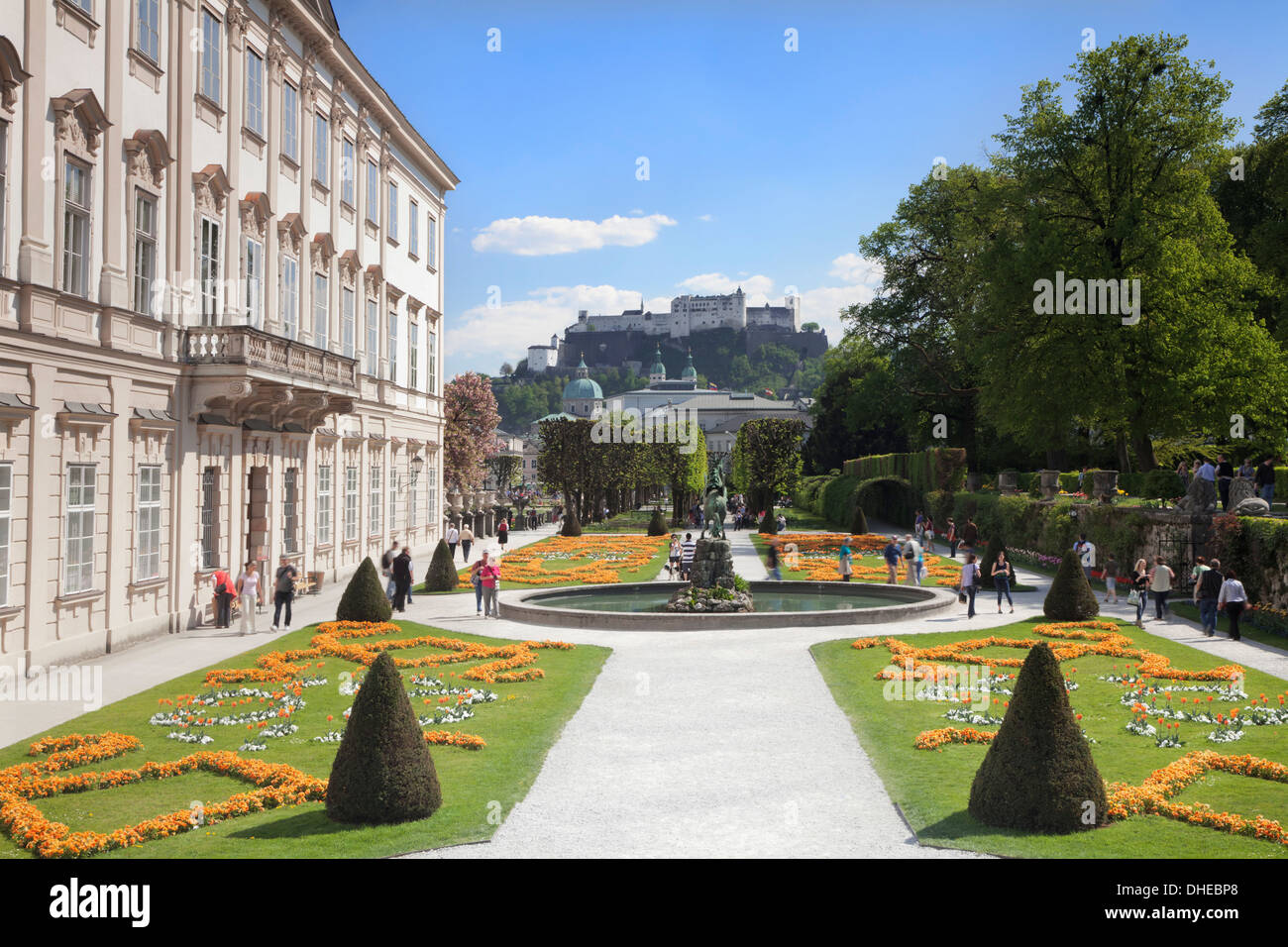 mirabell garden salzburg stockfotos mirabell garden salzburg bilder alamy. Black Bedroom Furniture Sets. Home Design Ideas