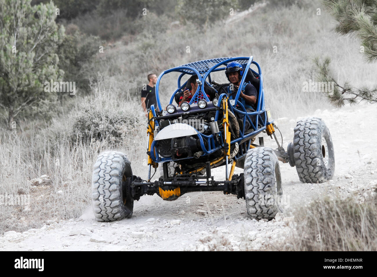 Cross Country Rally. Ein Buggy Rennen. Fotografiert in Israel Stockbild