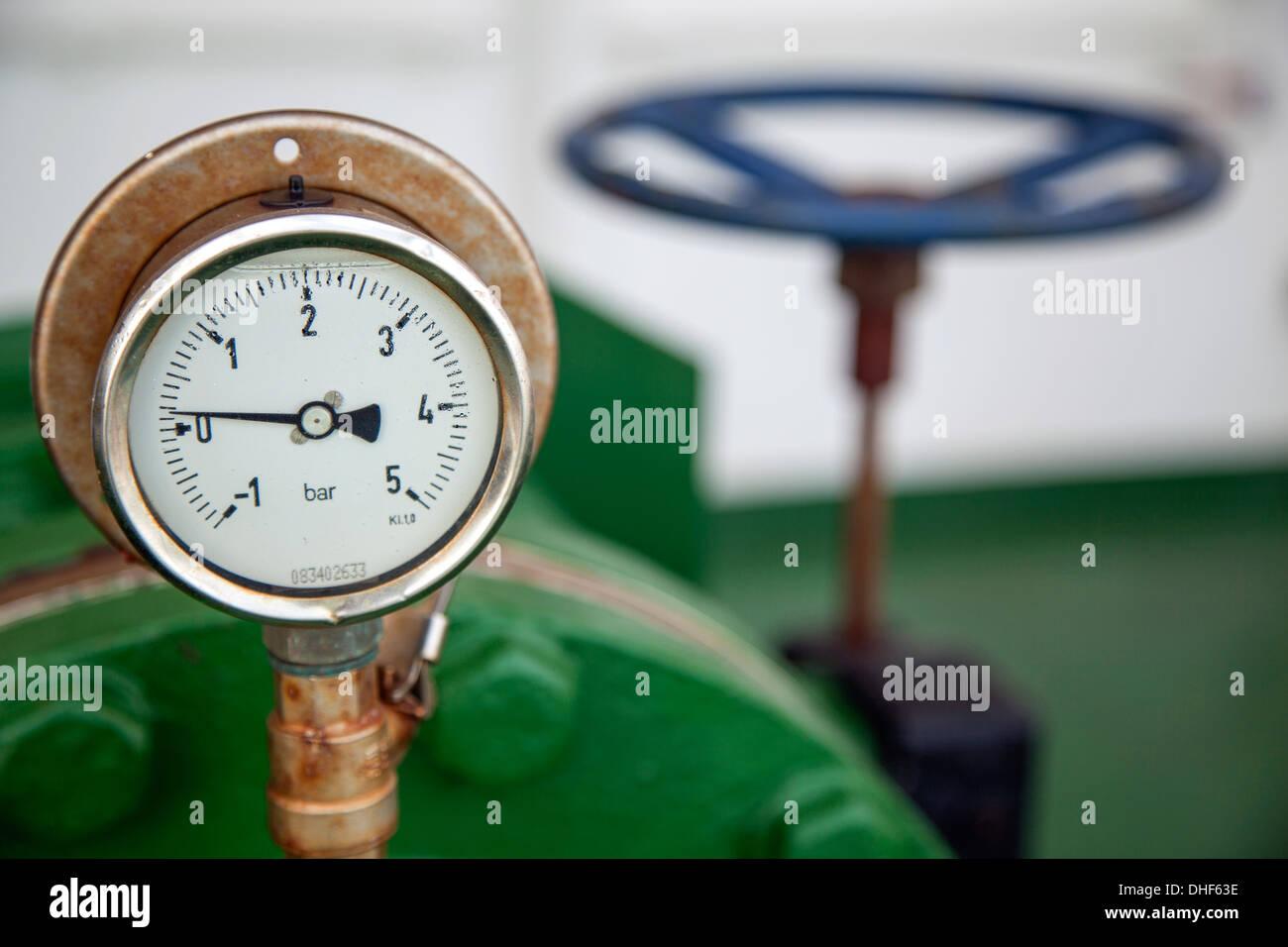 Nanonmeter, Druckmesser Stockbild