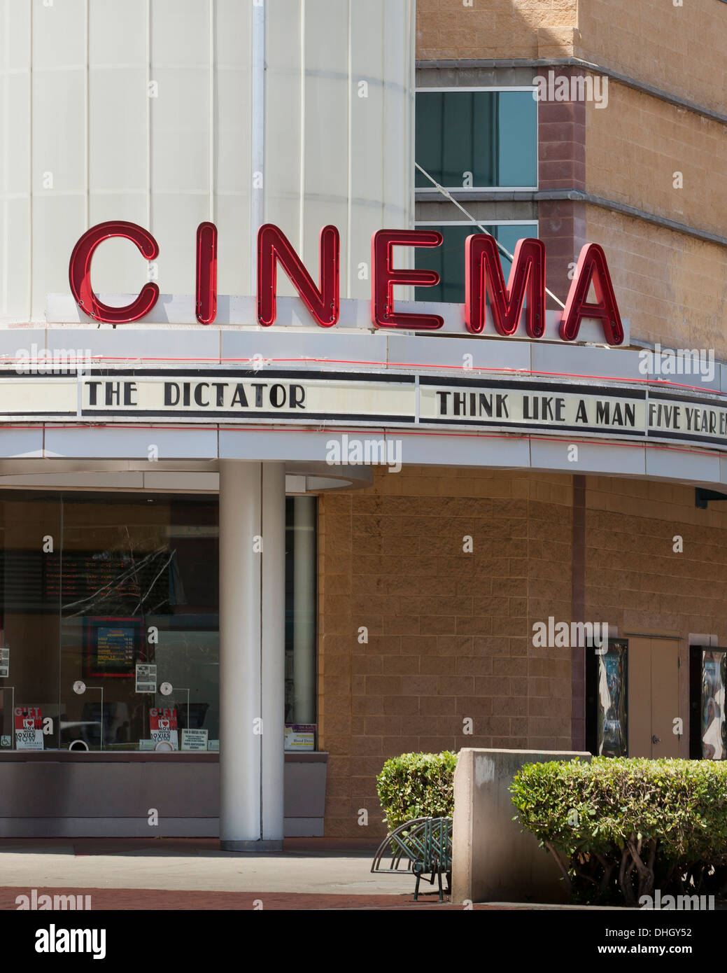 Vintage Film Theater Front - Kalifornien USA Stockbild