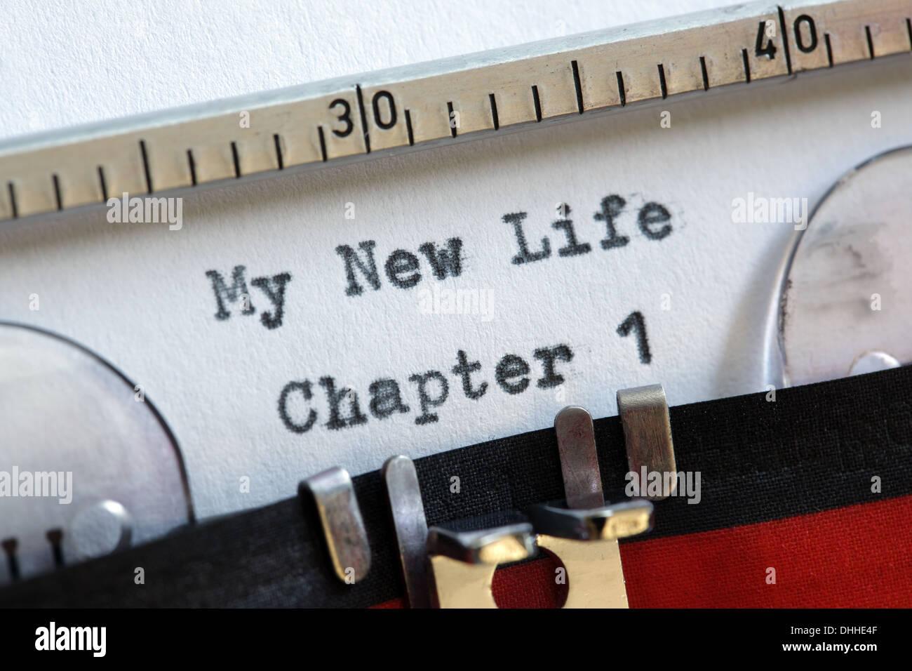 Mein neues Leben Stockbild