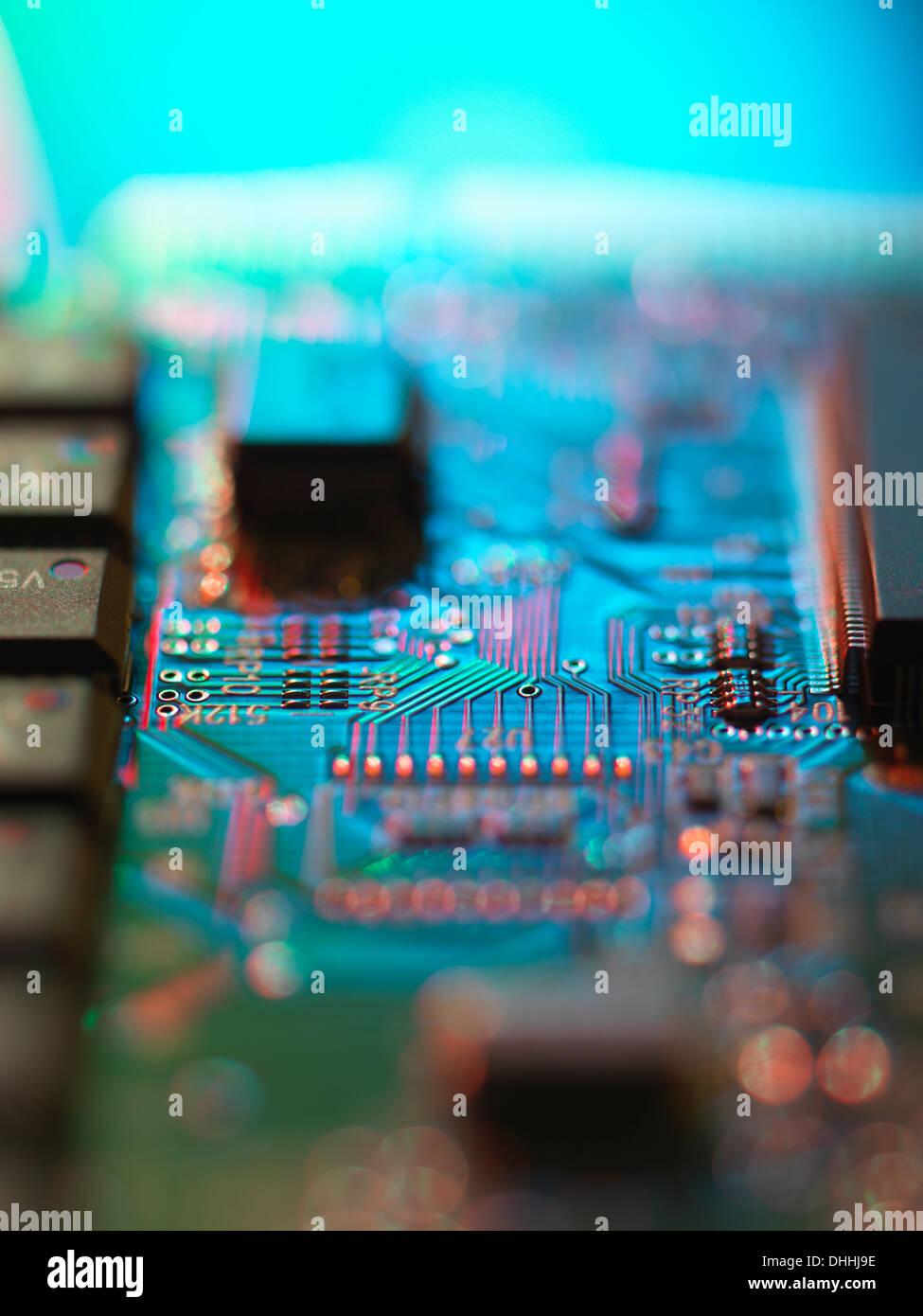 Details des Computer-Platine Stockbild