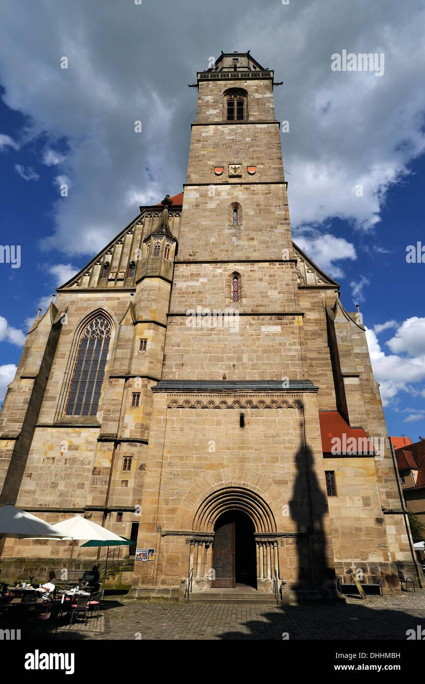 Münster St. Georg, spätgotische dreischiffige Hallenkirche, abgeschlossen im Jahre 1499, Dinkelsbühl, Middle Franconia, Bayern, Deutschland Stockbild