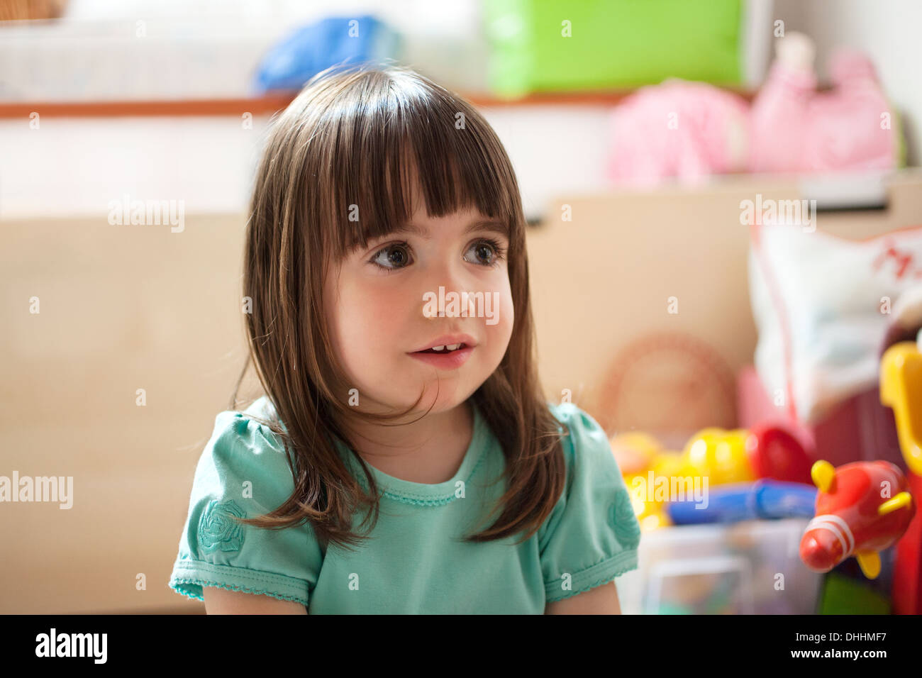 Porträt von Brünette Mädchen Stockbild