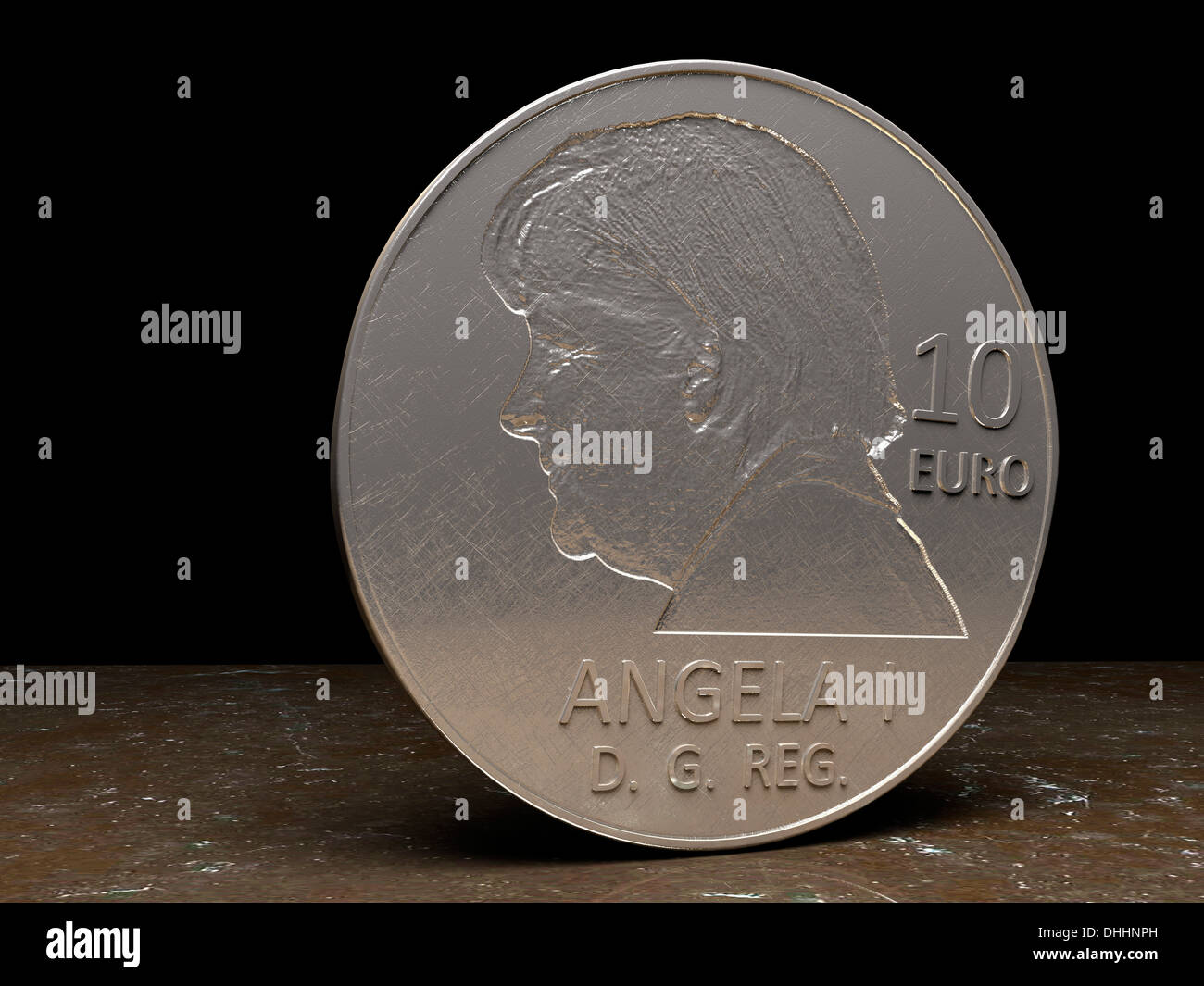 10 Euro Münze Zeigt Angela Merkel Bundeskanzlerin Der