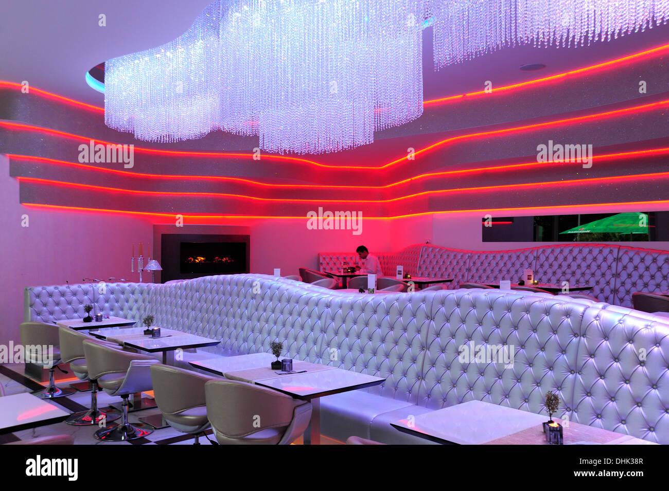 Deutschland, Berlin, Interieur des Restaurant und Lounge Bar MIO Berlin Stockfoto