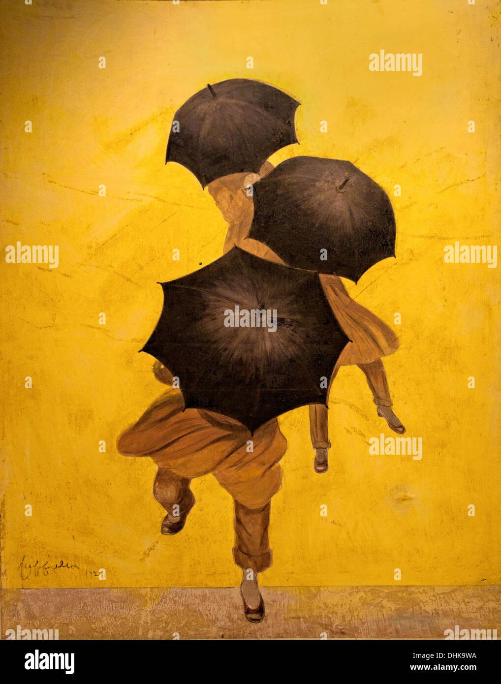Les Parapluies Revel - Thé Sonnenschirme Revel 1922 Leonetto Cappiello 1875-1942 Italien Stockbild