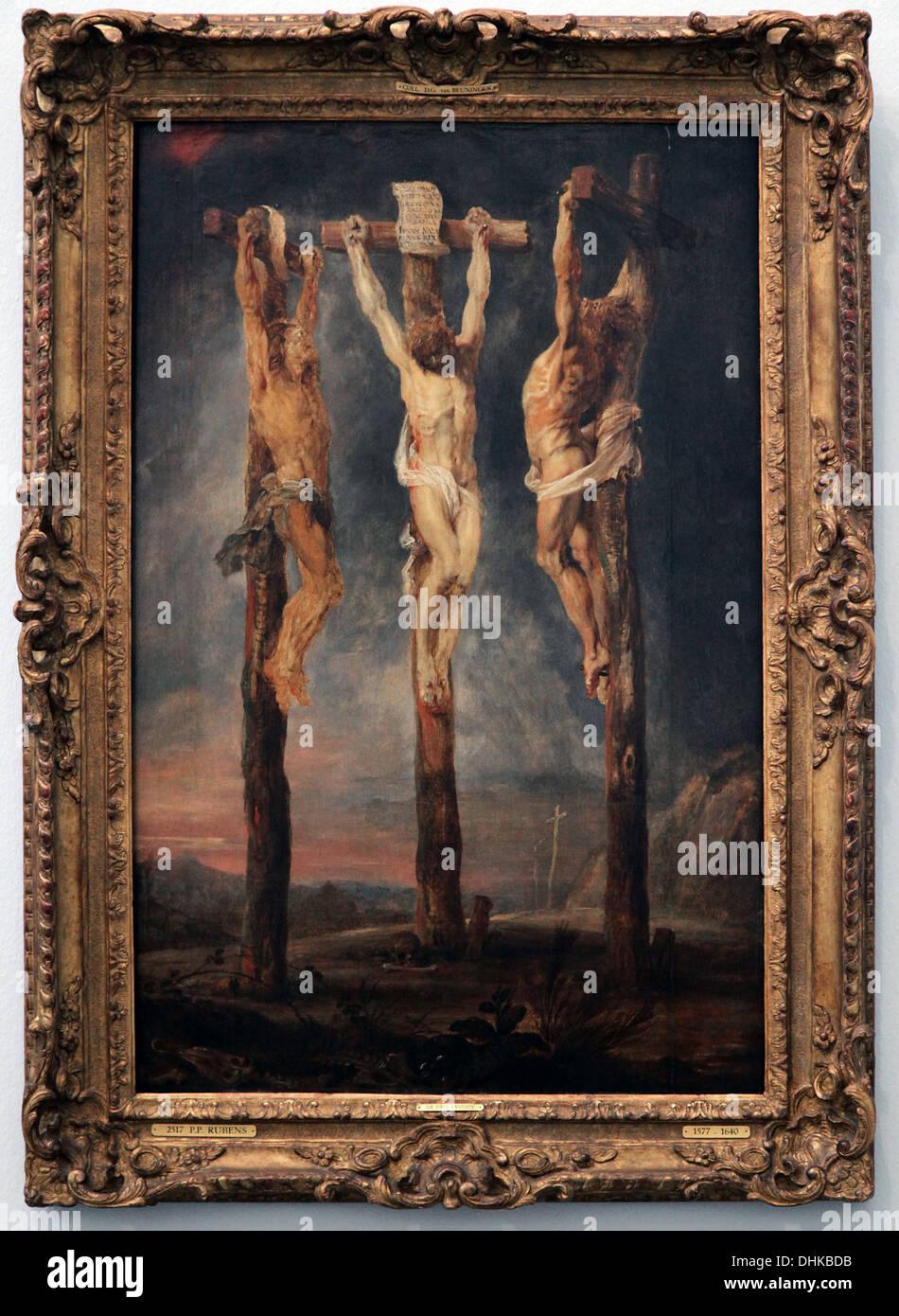 Peter Paul Rubens.The drei Crosses.1620. Stockbild