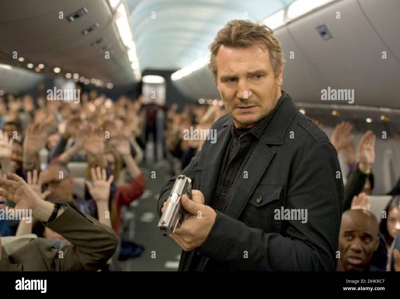 NON-STOP 2014 Universal Pictures Film mit Liam Neeson als Bill Marks Stockbild